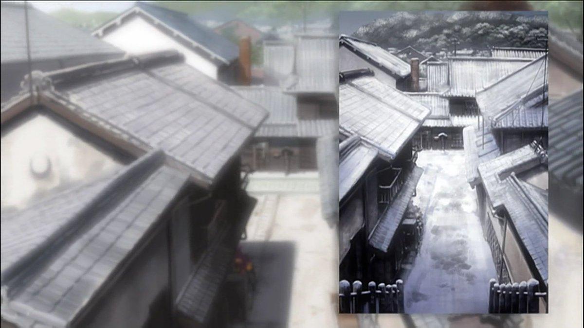 竹原西方寺からの雪化粧カット回収♪ヽ(´▽`)/#tamayura #たまゆら #takehara #竹原