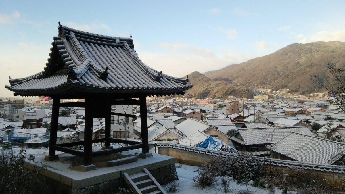 西方寺と普明閣辺りの雪景色#tamayura #たまゆら #takehara #竹原