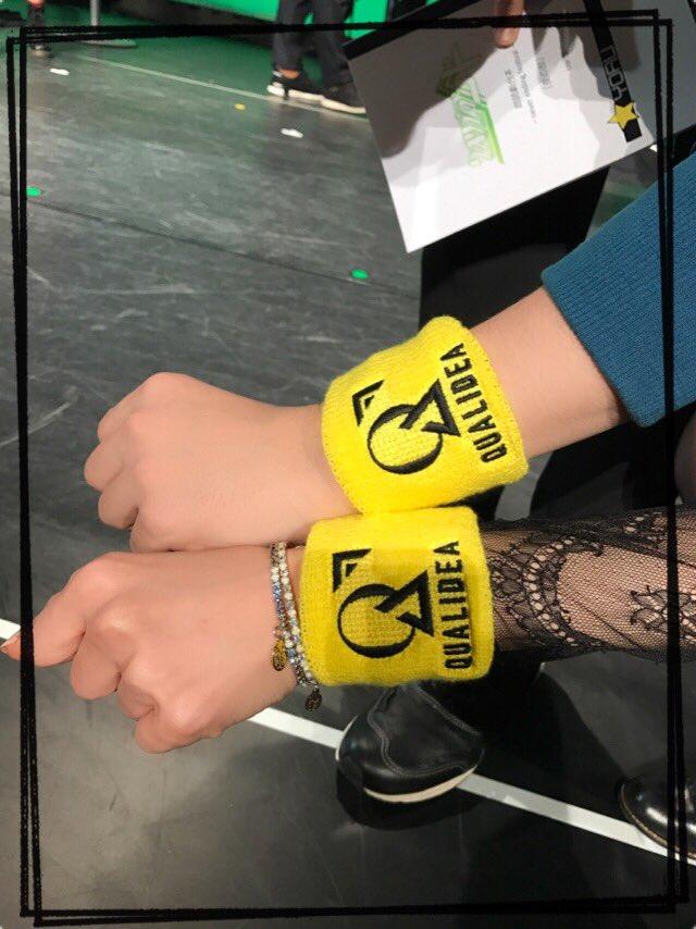 今日はクオリディア・コードのイベントです!昼の部が終わり、今から夜の部です!千葉陣営で公式グッズのリストバンドをつけて気