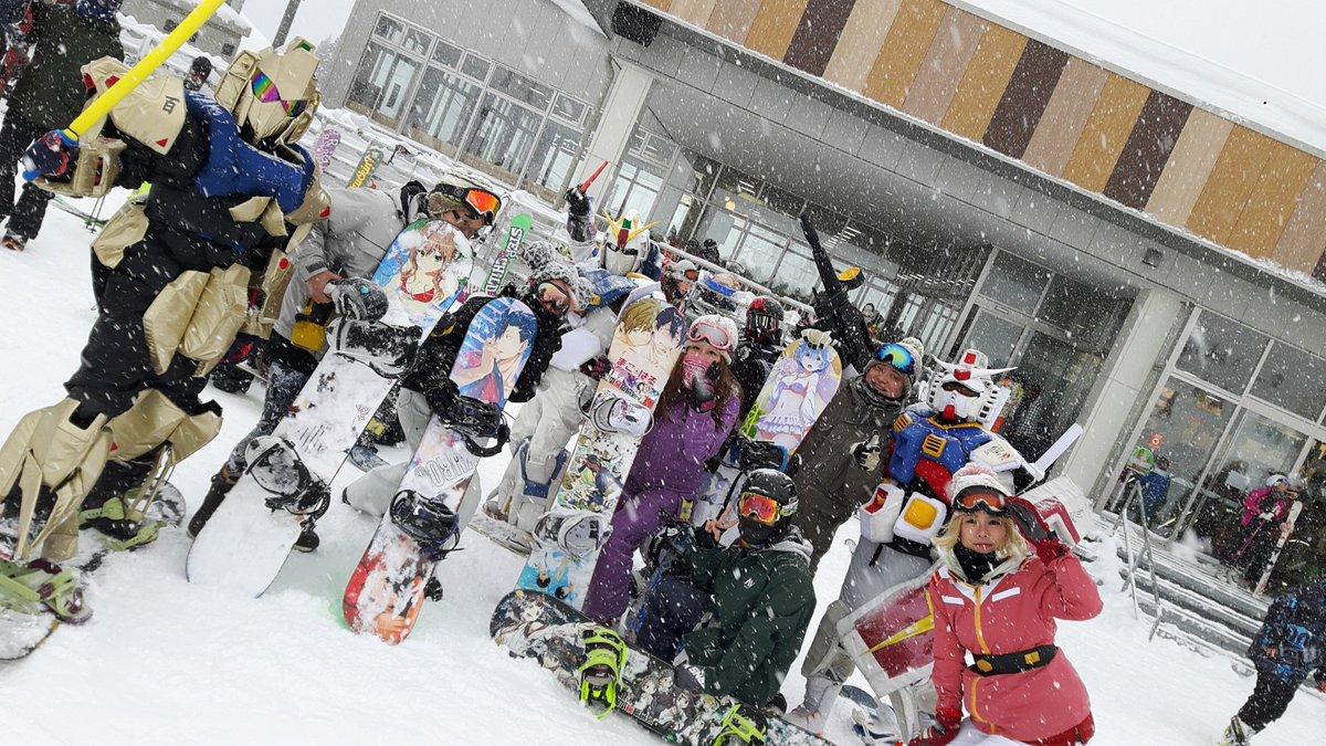 今日は奥伊吹スキー場にタマこさんと抜錨したよぉ☆生ガンダムさんとGP隊の皆様と写真を撮って頂きましたぁ♪