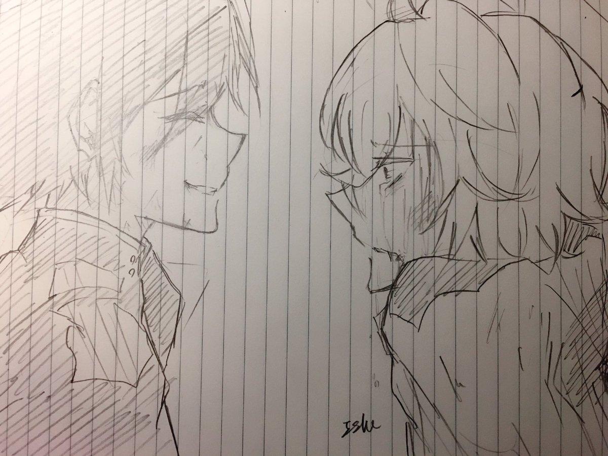 あーこの二人本当好きだわwもっと描きたい!!おやすみなさい!!終わりのセラフ   百夜優一郎    百夜ミカエラ