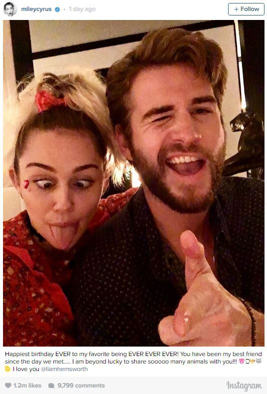 Miley Cyrus Professes Her Love For Liam Hemsworth; Wishes Him Happy Birthday
