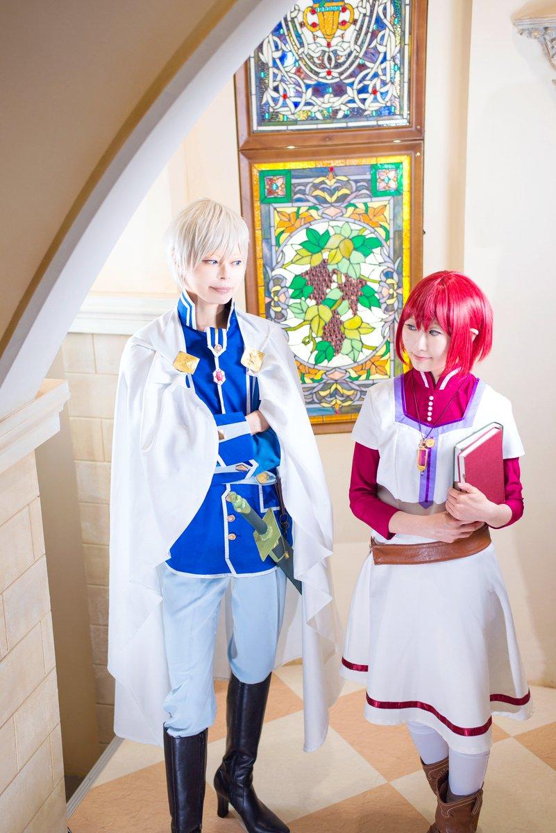 コス/赤髪の白雪姫「これから薬室に行くところだよ」「なんだ忙しそうだな」白雪:りんずちゃん ゼン:未緒PHOTO:雪那