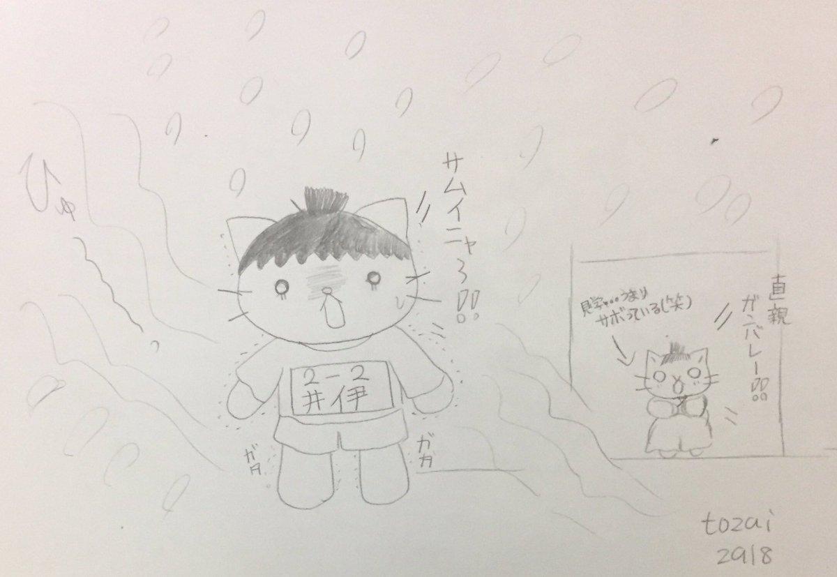 今日のねこねこ日本史   78回寒いのに、半袖&短パンの体操服でガタガタの直親。体操着が嫌でサボる政次。ワタシも