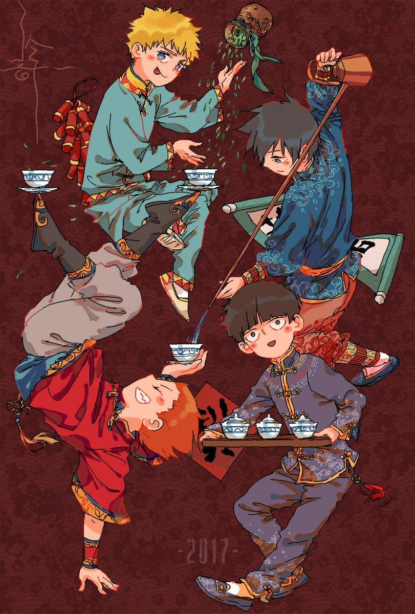 新年明信片正反面!_(:зゝ∠)_New year postcard!  #モブサイコ100