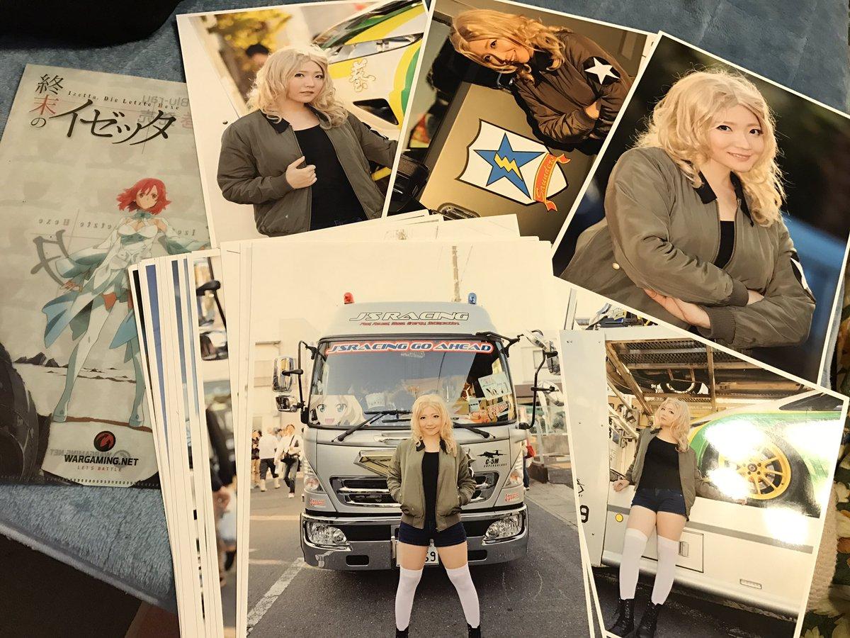 シンさんがあんこう祭で撮影していただいたおケイさんのお写真全16枚印刷してきてくださった😂💞 ほんとにうれしいありがとう