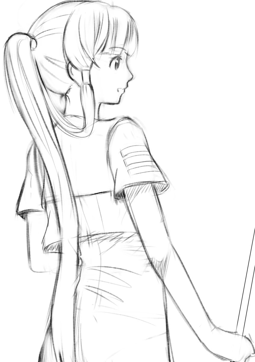 時間が空いたので30分ドローイング今ARIAイラストいっぱい描いてる方いるので描きたくなってしまった、、雑な描き方ですい