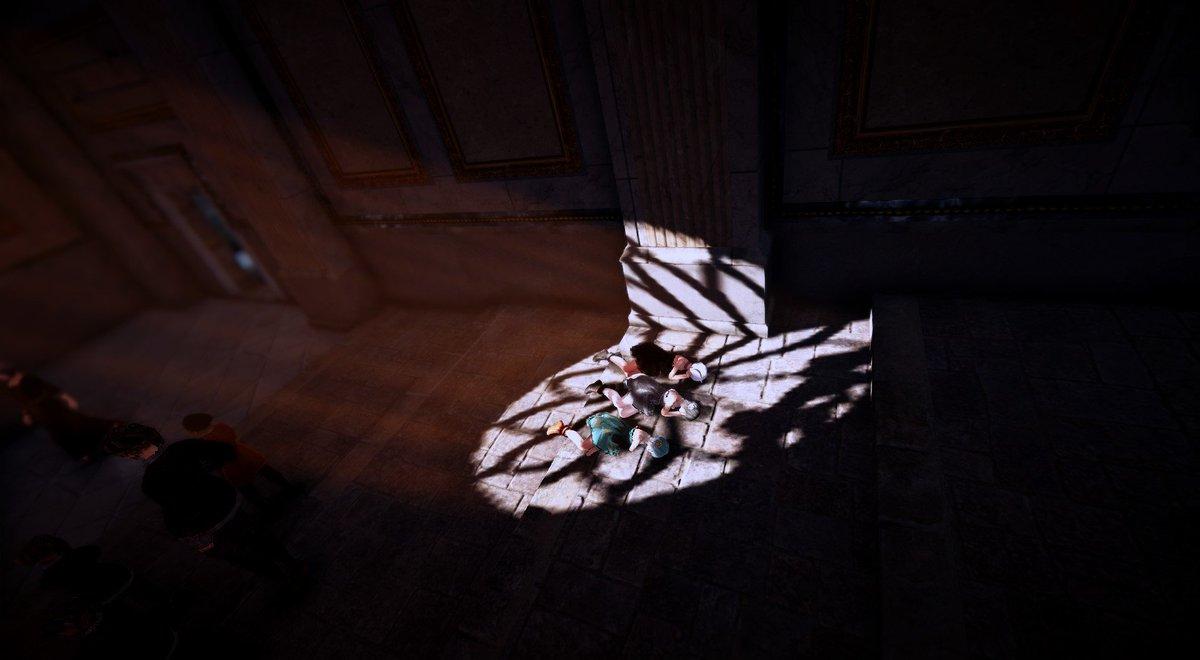 しずくちゃんのmyGoツアー行ってきた!気になってた花の形の影も撮れた!よき! #黒い砂漠 #黒い砂漠SS部 #ふわふわ