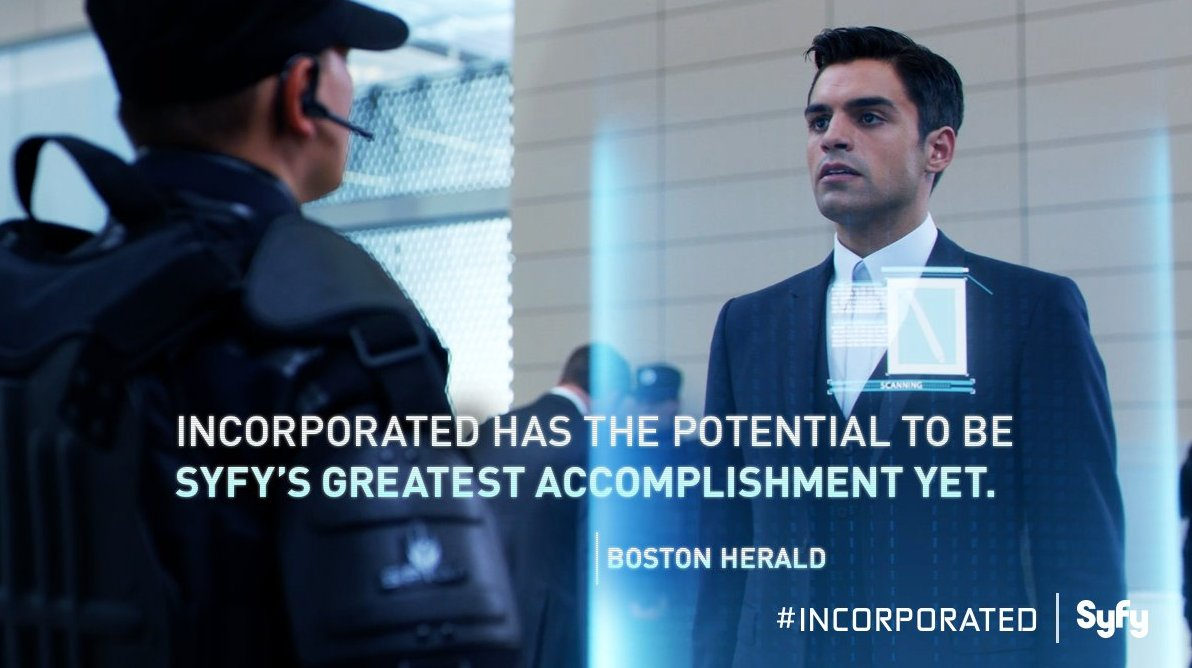 An all new episode of #Incorporated airs this Wednesday 10/9c on Syfy. https://t.co/jzHrJWH8sS