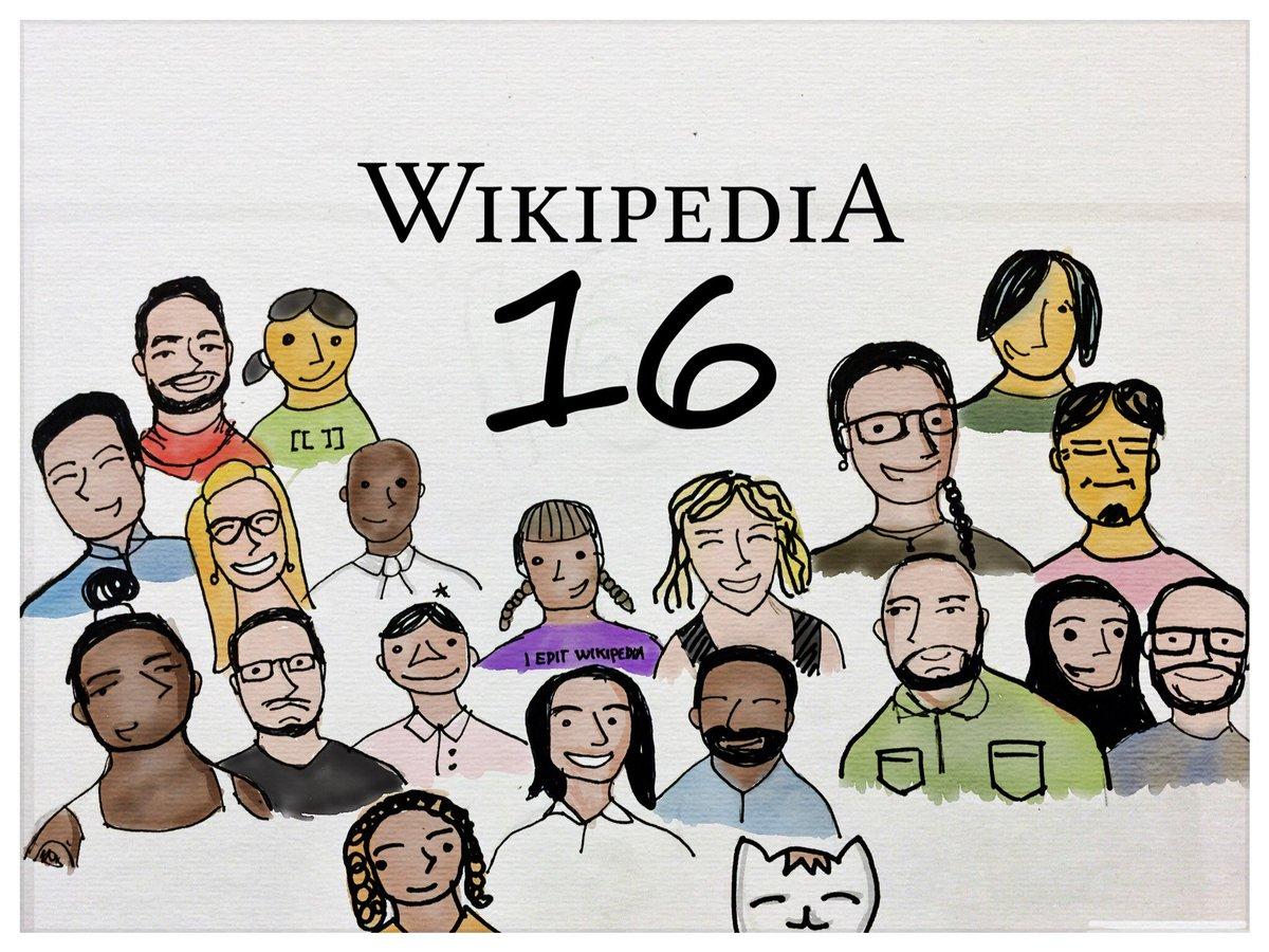 Somos miles de personas compartiendo conocimiento libre. ¡16 años ya de @Wikipedia! #WikipediaDay https://t.co/0QqyXC1cCA