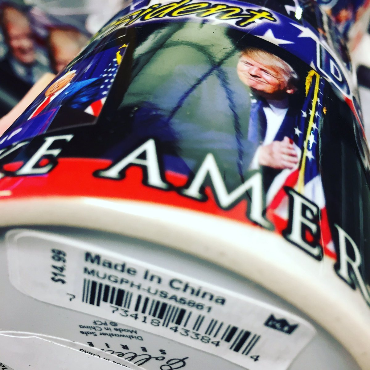 RT @tomgreenlive: New Donald Trump mugs available at Washington DC airport.  Made in China. https://t.co/SdJy8c4ycQ