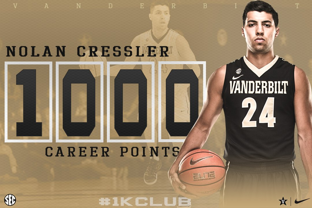 RT @VandyMBB: Congrats to Nolan for joining the 1,000-point club! #AnchorDown https://t.co/OnaQCyuhLS
