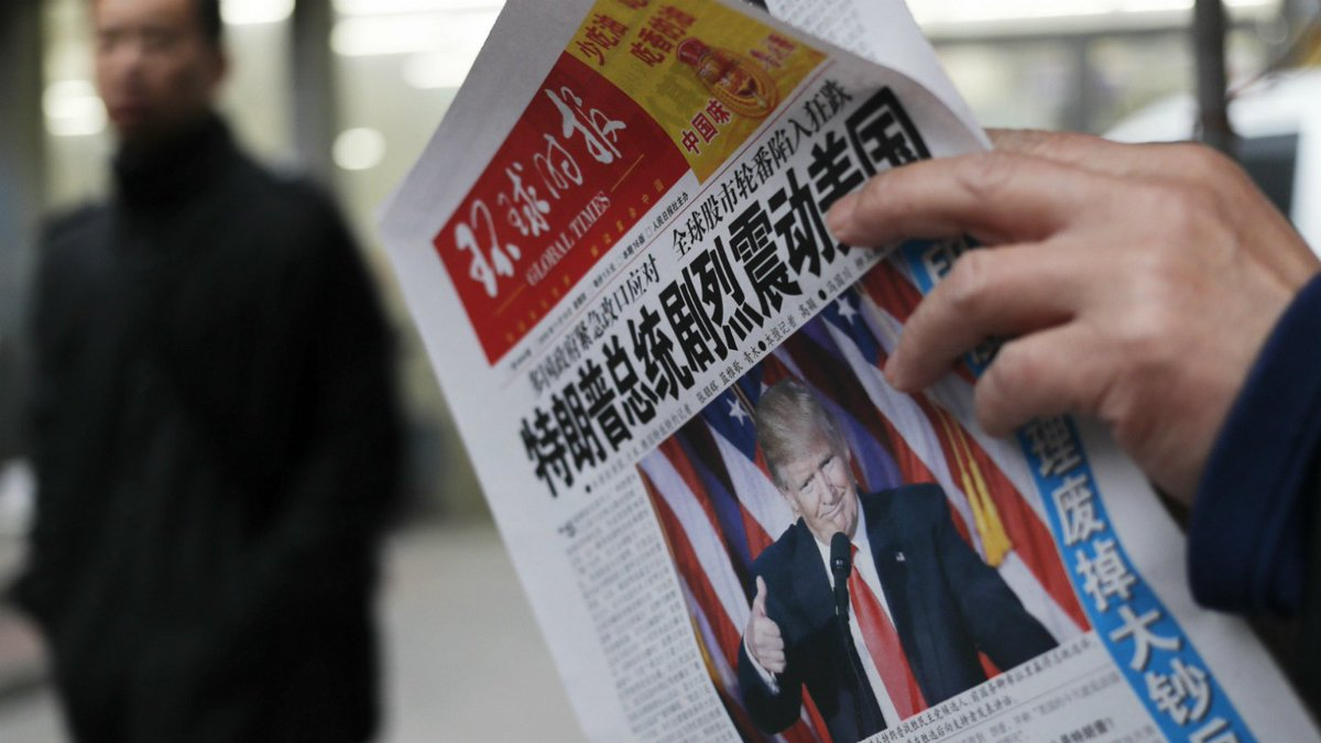 Chinese-state media calls Trump's position on Taiwan 'despicable'