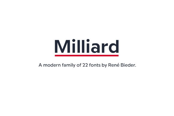 Milliard Sans Free Demo Freebies FreeResources FreeDownload