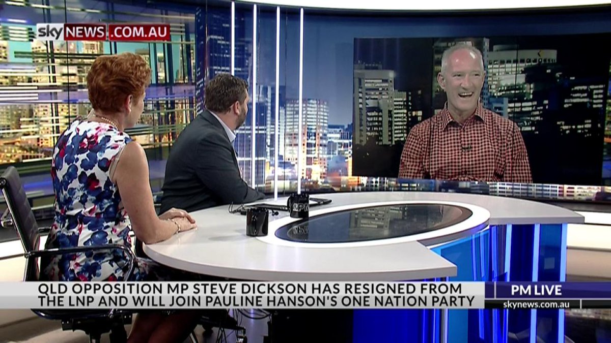 INTERVIEW: Sen Pauline Hanson + One Nation QLD MP Steve Dickson on #pmlive. https://t.co/t0W0GW6uRO