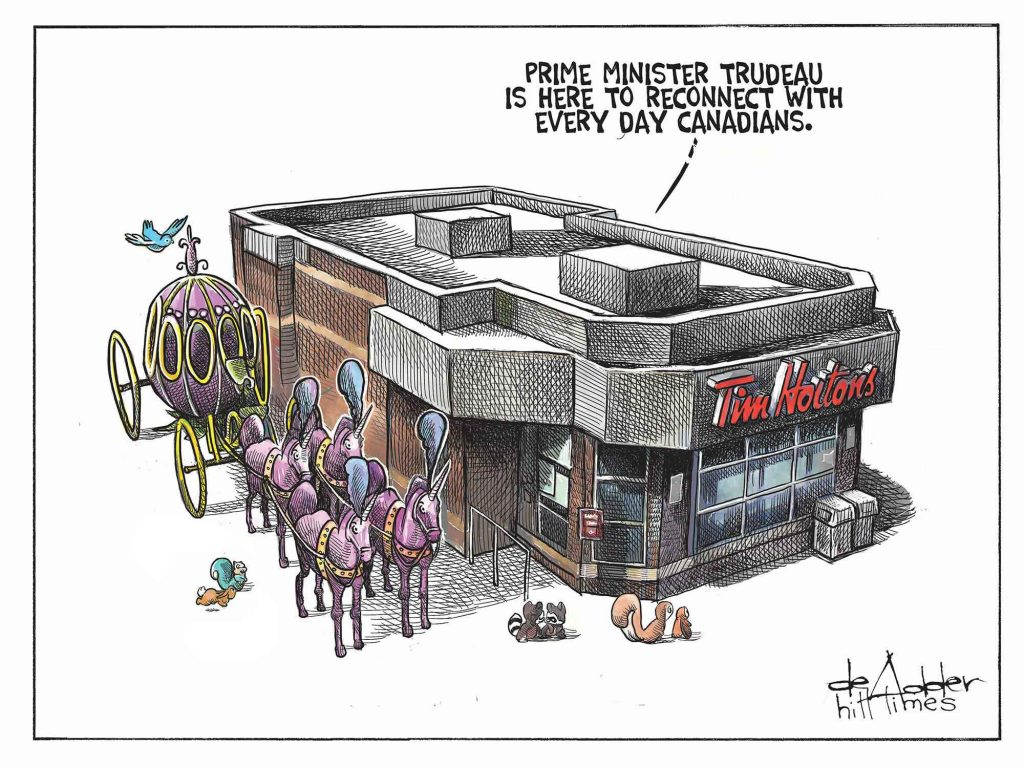 Justin Trudeau's cross-Canada tour. Today's editorial cartoon, via @deAdder https://t.co/E1G5ZSMCzj