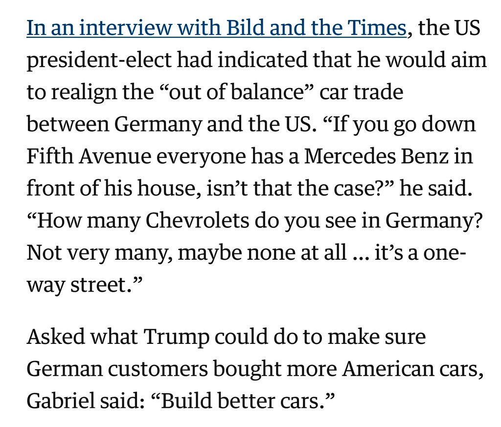 Germany's Minister in charge of the Economy evidently has no chills.