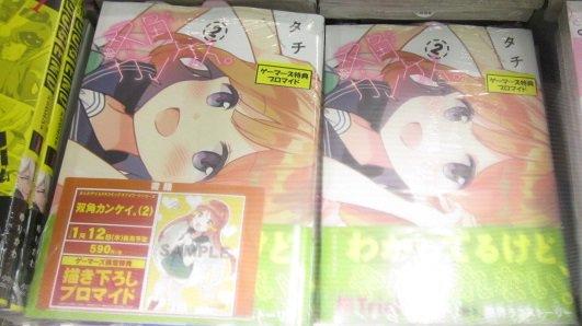 【札幌店】「双角カンケイ。2」好評発売中! #桜Trick の #タチ先生 が送る 新たな百合展開ストーリー第2巻!双子
