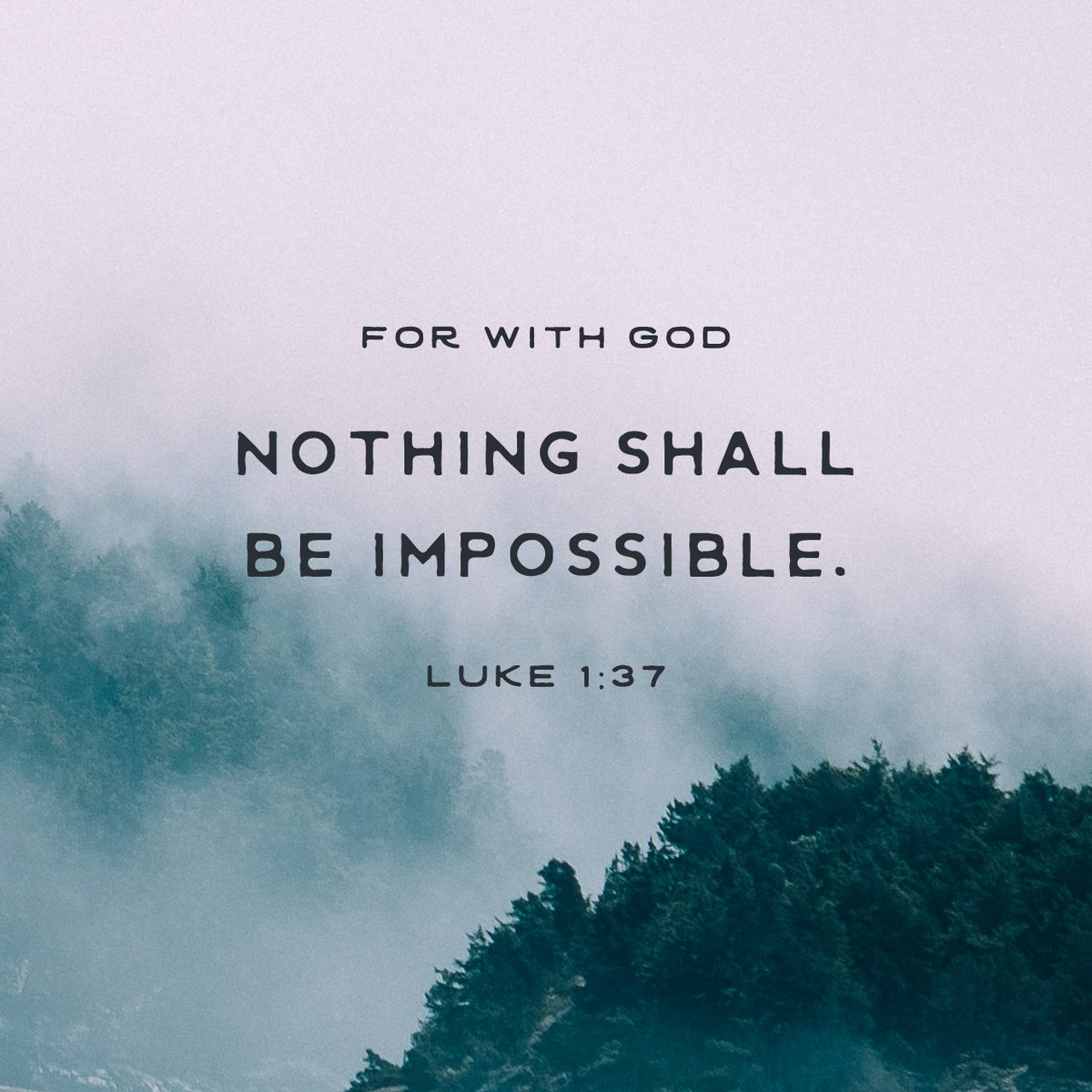 For with God nothing shall be impossible. https://t.co/CTmPnouB4A https://t.co/DrKYXi8EMU