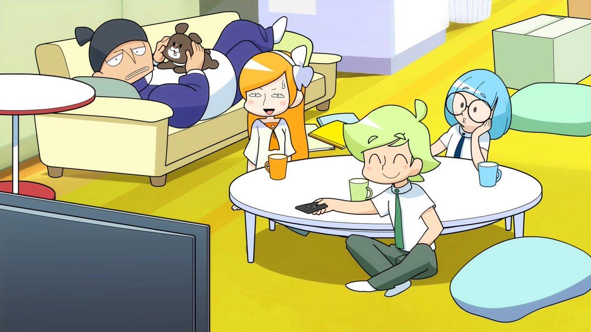 まもなく!21:55~より第3話「アニメはつらいよ」 が放送&配信開始です!録りためたアニメを一気に消化しようとするアニ