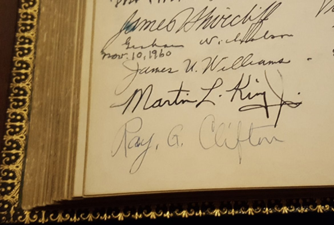 Dr. King's signature in the John Hay Library https://t.co/QeSAqoBYPu #MLKDay https://t.co/pYa7lbXkr9