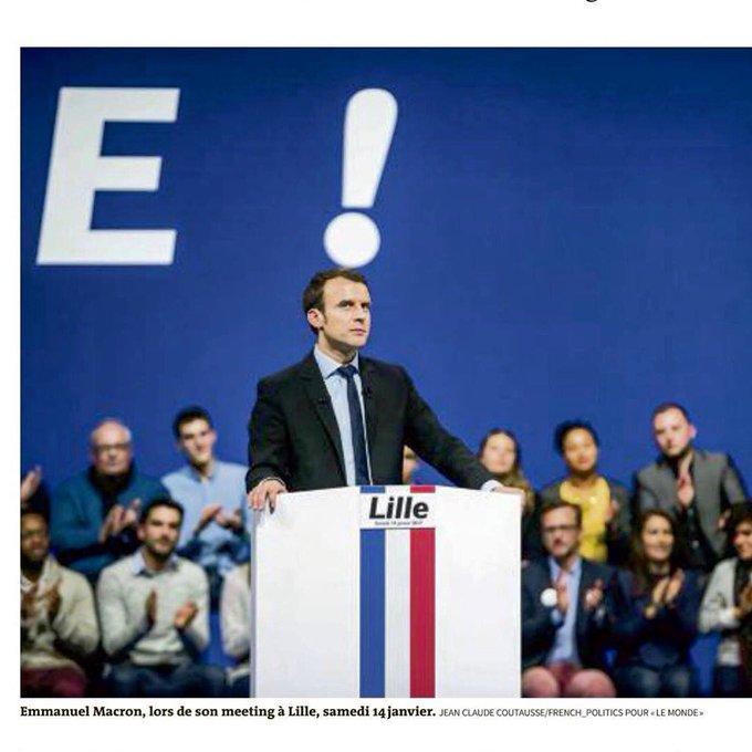#Macron ! Géniale photo de @coutausse dans Le Monde