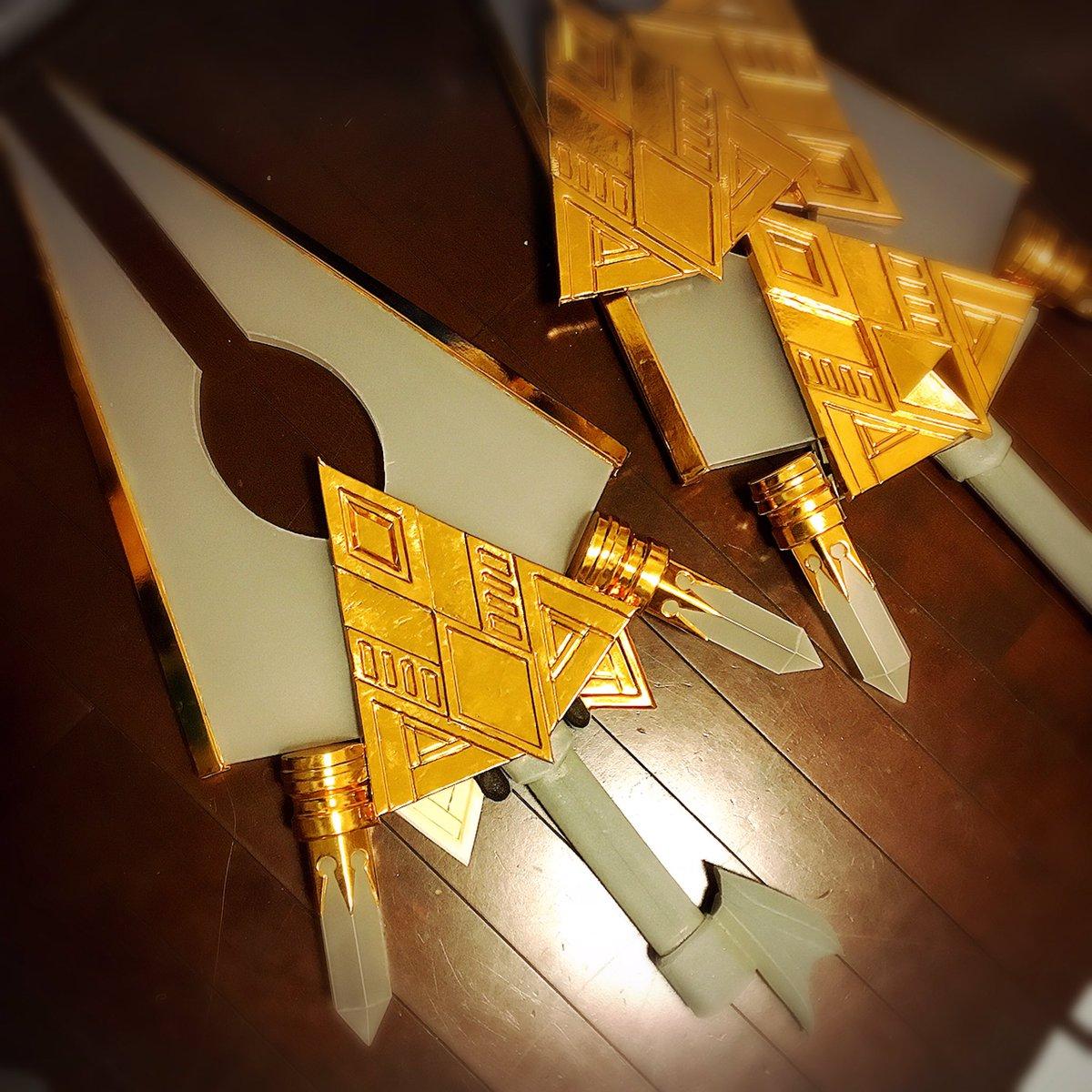 ワンフェス二番勝負はまだここ…(´༎ຶ༎ຶ) カトルの武器は思ってたより装飾がたくさんあってフヒッってなる( ´=ิ◞