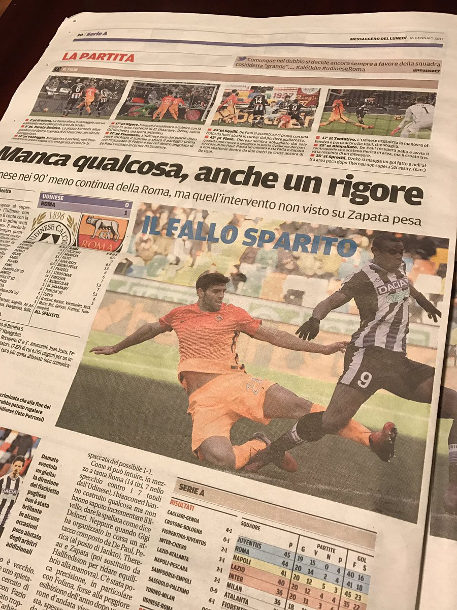 #UdineseRoma