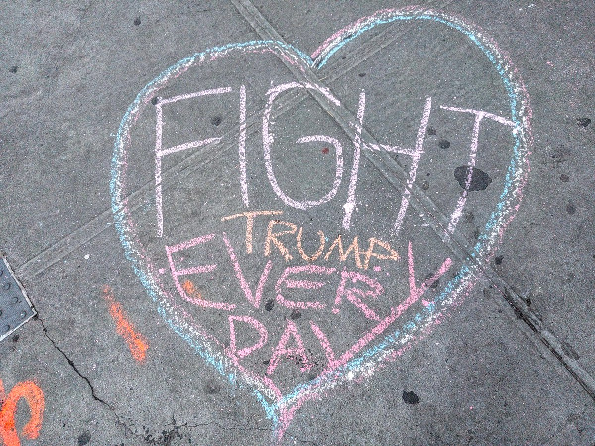 Sidewalk chalk message, Waverly Place https://t.co/Ur1zHDDhUZ