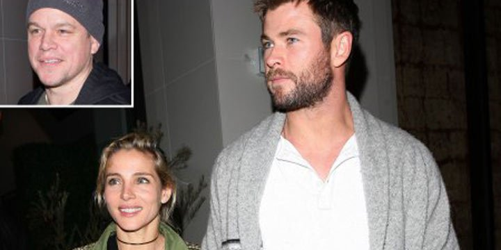 Matt Damon joins pal Chris Hemsworth and his wife Elsa Pataky for dinner in L.A.