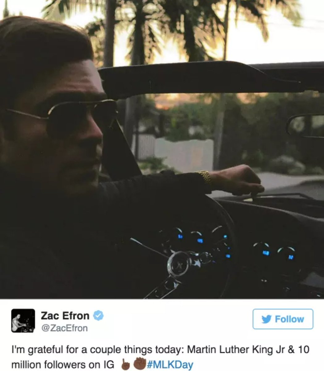 I just remembered it's the one-year anniversary of my favorite deleted Zac Efron tweet #neverforget