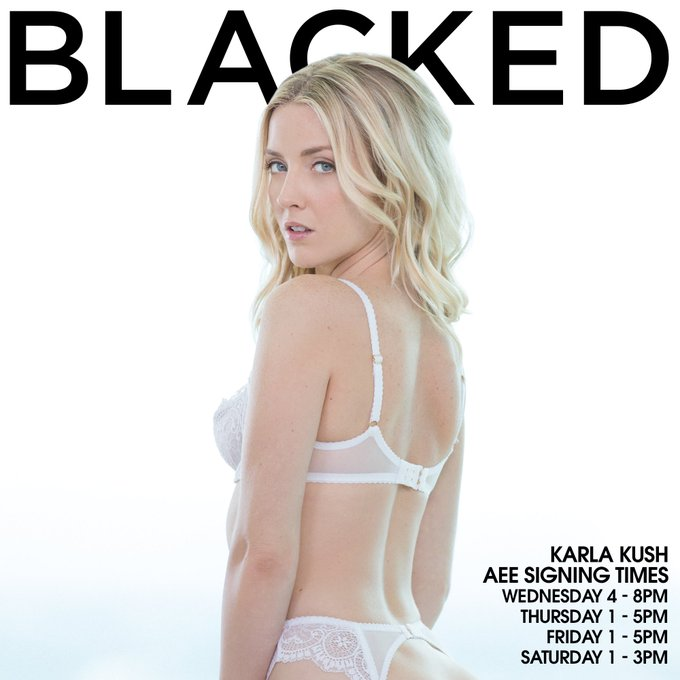 Attending the @AEexpo? Don't miss @KarlaKush420 signing at our #BLACKED booth JANUARY 18TH - 21ST!! 🏆