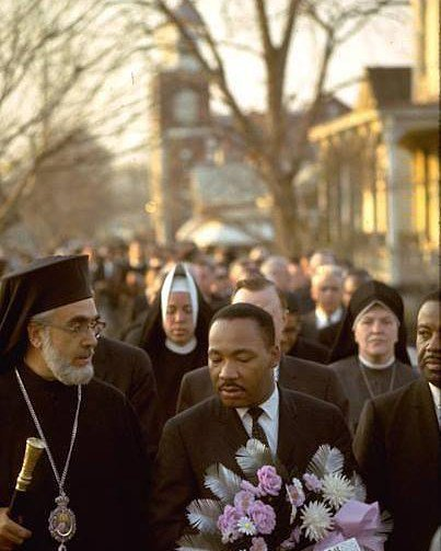Martin Luther King Jr with Archbishop Iakovos #mlk #martinlutherking #archbishopiakovos https://t.co/pyErVWkTtB https://t.co/E93Fi64Hnb