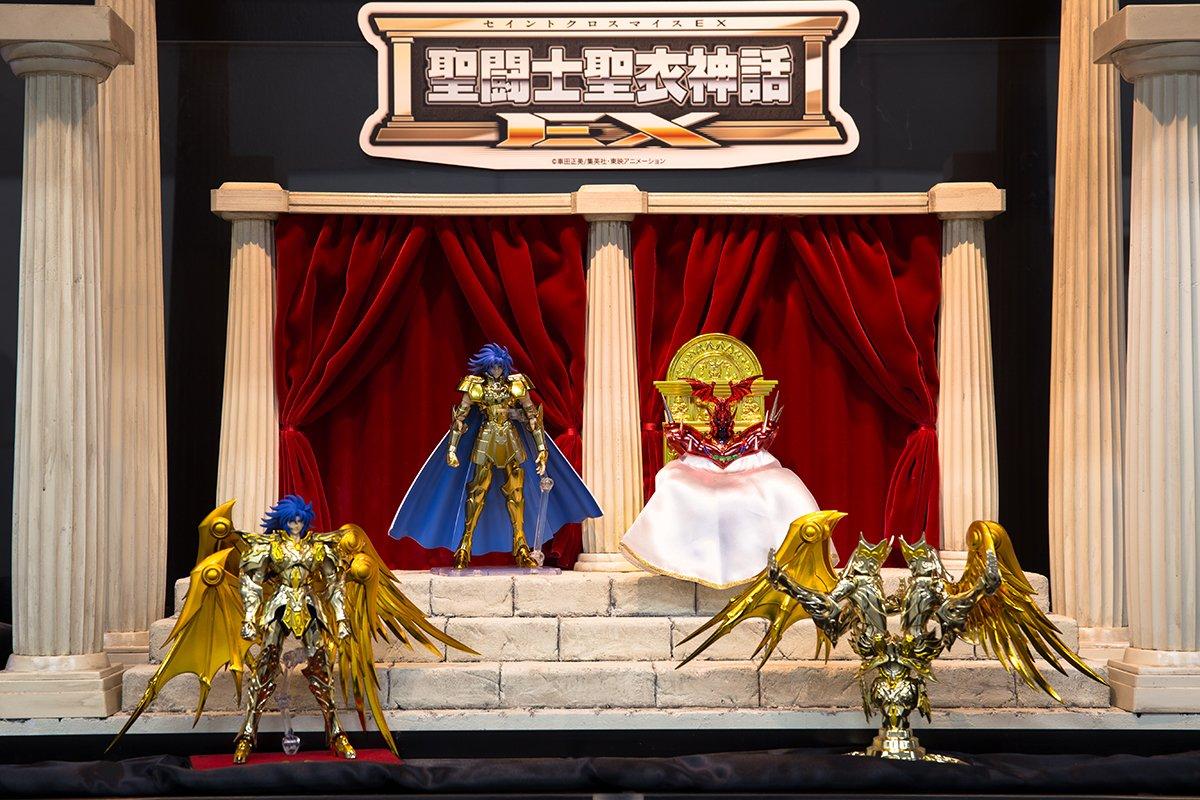 「魂ネイションズ AKIBAショールーム」営業中!好評開催中の「聖闘士星矢 特集展示」では、最新作「ジェミニサガ(神聖衣