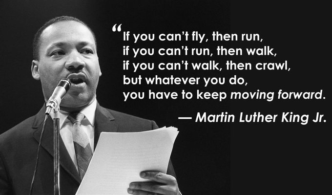 Let's keep moving forward. Happy Martin Luther King jr. day 🙌 https://t.co/wMr279aAvH