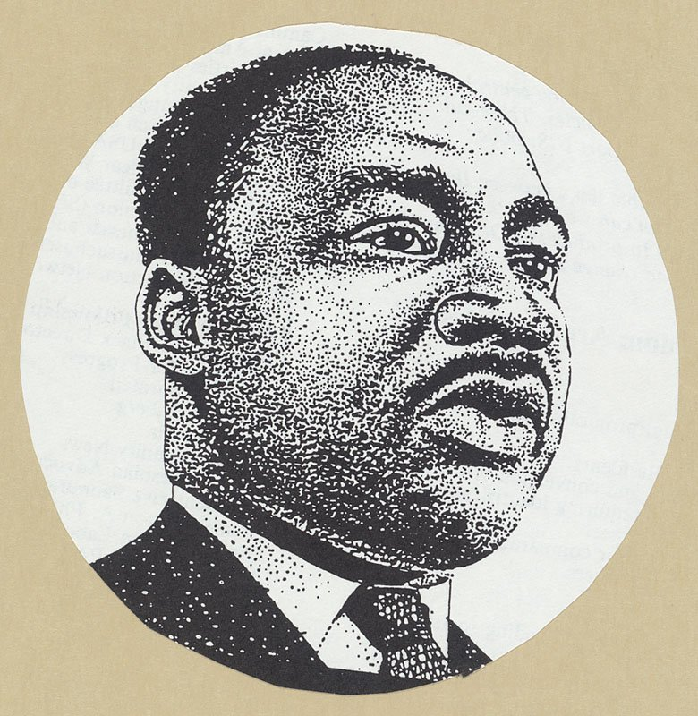 This print of Martin Luther King Jr. is part of the collections at the @Harvard_Law library. #MLKDay https://t.co/39exh5tJpm