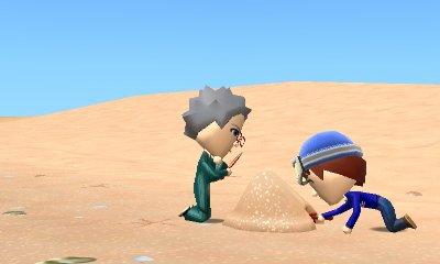即飽きてトンネルを掘るハマトラ #トモダチコレクション新生活 #3DS