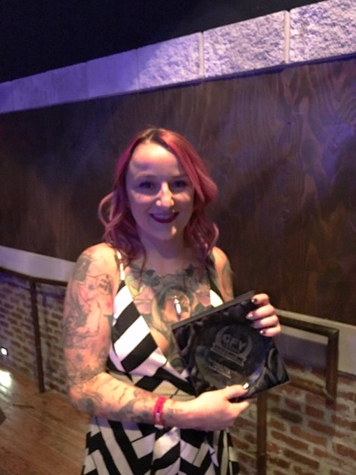 "Who just won the ""Best Company Rep"" from @OfficialGFYcom ? Our very own Courtney! #gfy #awards #Vegas"