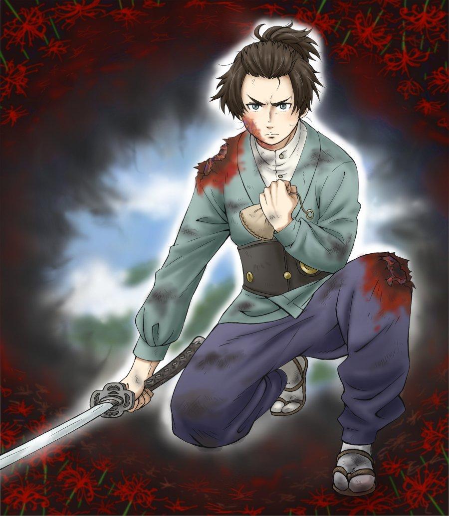 「私とて武士です!」人として、武士としての最期の覚悟と、消えていく視界、もう見られない青空。倉之助君の笑顔が、悲しい。#