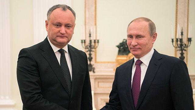 Путин рассказал об итогах переговоров с президентом Молдавии