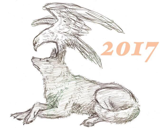 私、鳥の絵なんて描いたことねえよ、なんて思ってましたが、一枚だけありました。劇場版ベルセルク第3部を見た時の、ガッツとグ