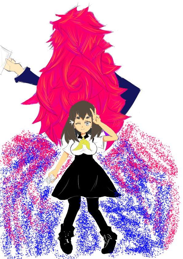 ガッチャマンクラウズのはじめを描いてはずがなぜか頭が大きくなり等身がどんどん下がり小学生みたいに…教訓:赤と青の斑点は重