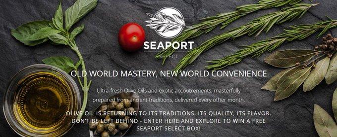 Free Mini Bottle of Seaport Extra Virgin Olive Oilfreebies