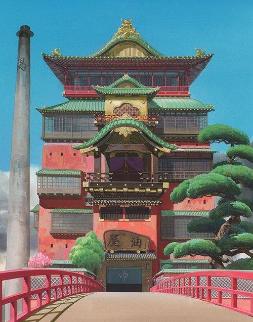 「ジブリの立体建造物展」大阪で開催決定 - 油屋やラピュタ城、月島家…ジブリに登場するあの建物が集結