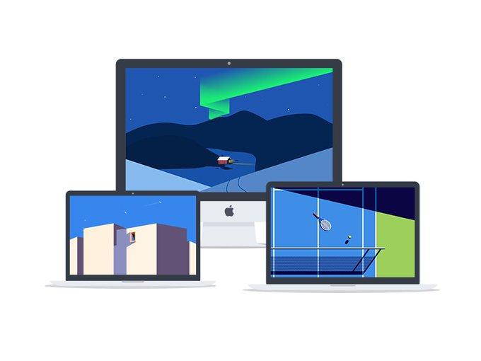 Minimalist Wallpaper Desktop    Illustration by iftikharshaikh_ freebie