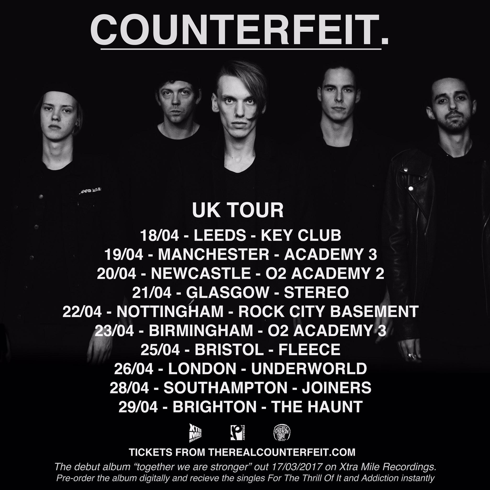UK friends. We're back out pon da road. https://t.co/e0hl3zOFHo if you're keen @counterfeitrock Bye. https://t.co/QEc1XrJP1y