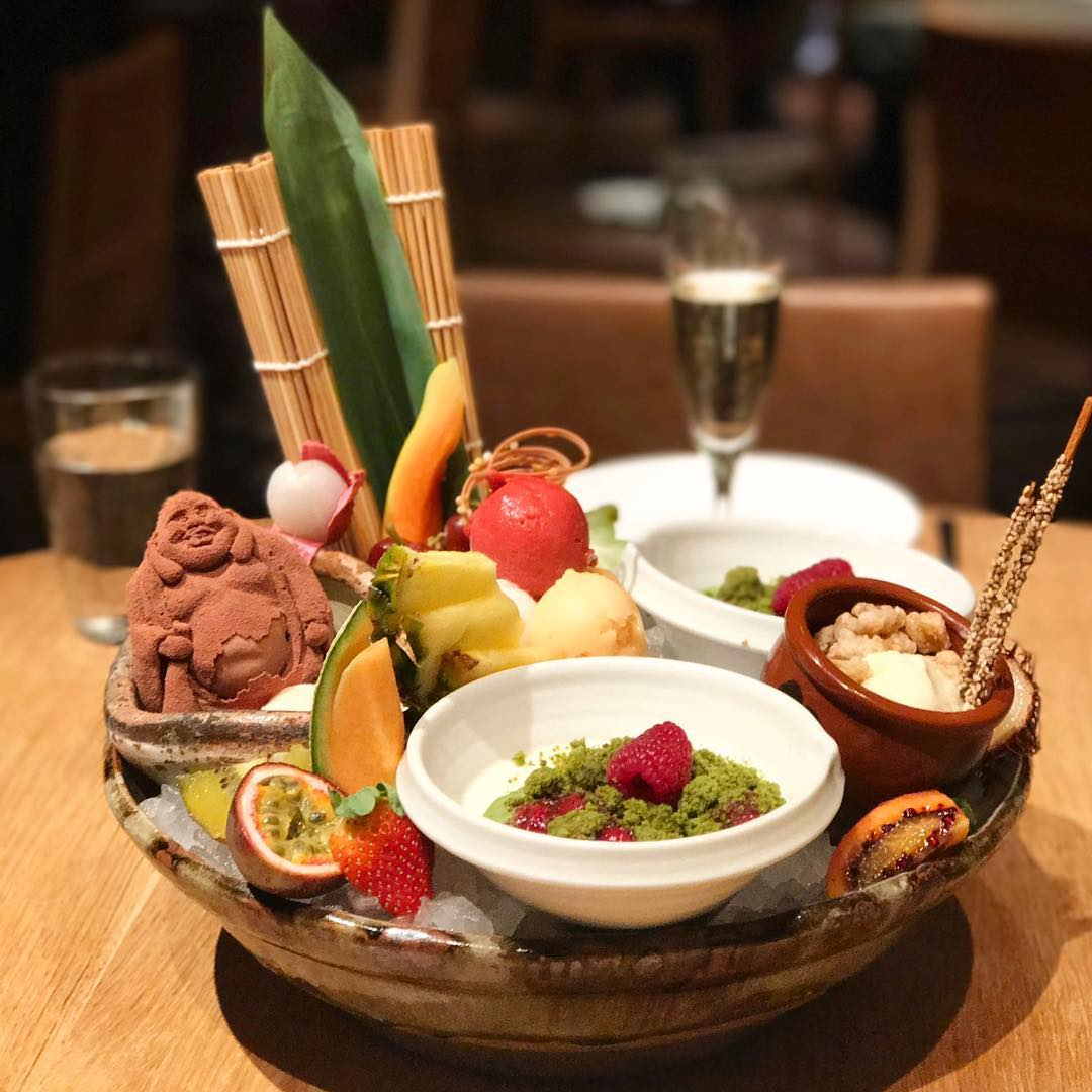 Dessert platter at Roka London's Poshest Dishes