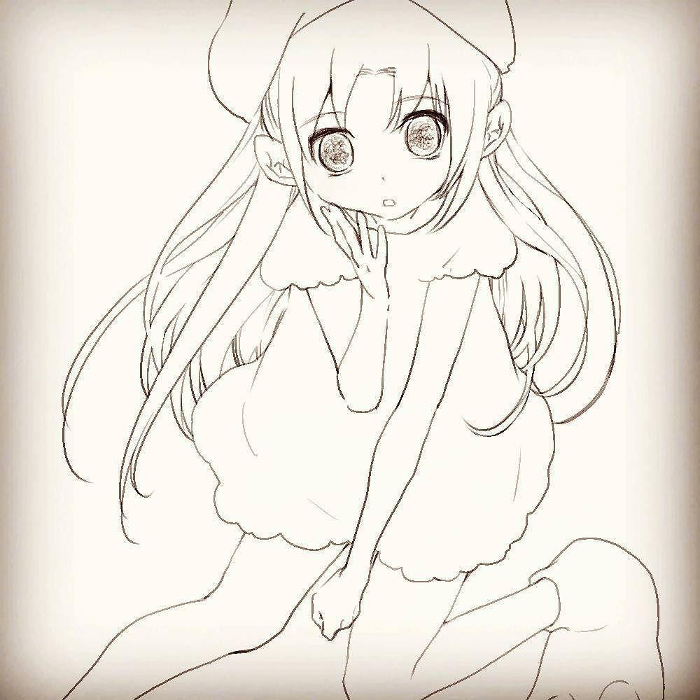 今更の年賀イラストを製作中 #ミリオンドール #ゆりの #酉年 【via instagram : 】