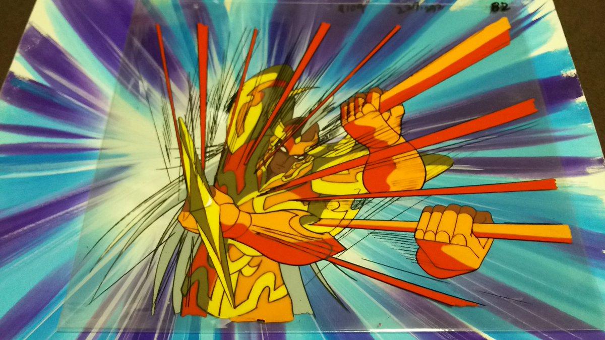 久しぶりの、お気に入りのセル画をアップ。『聖闘士星矢』のクリシュナ。なんか好き。(о´∀`о)