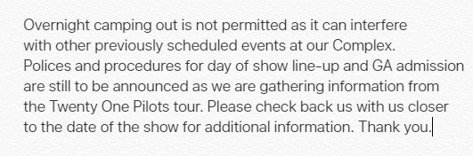 For anyone who is attending the @twentyonepilots show here @Gbocoliseum on 2/25, please see below: https://t.co/AAmBYfFFAL